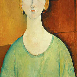 Amedeo Modigliani - Girl in a Green Blouse