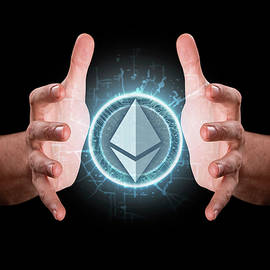 Hands Grasping Cryptocurrency - Allan Swart