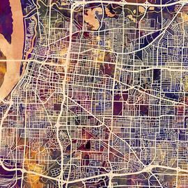 Michael Tompsett - Memphis Tennessee City Map