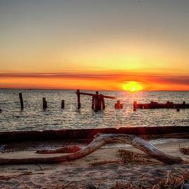 Sandy Hook New Jersey Sunset by Geraldine Scull