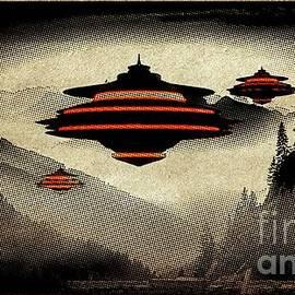 Raphael Terra - UFO Pop Art by Raphael Terra