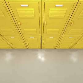 Yellow School Lockers - Allan Swart