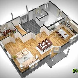 3D Floor Plan Rendering Design Florida USA by Yantram Studio