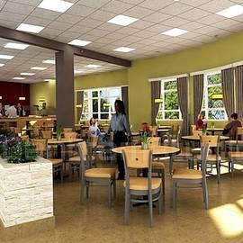 3D Hospital Lobby Interior Rendering by 3d interior rendering services Sydney, Australia. by Yantram Studio