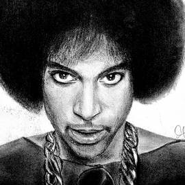 3rd Eye Girl - Prince Charcoal Portrait Drawing - Ai P Nilson by Ai P Nilson