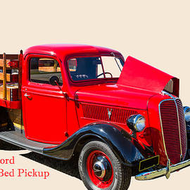 1937 Ford Stake Bed Pickup Antique Vintage Photograph Fine Art P by M K Miller