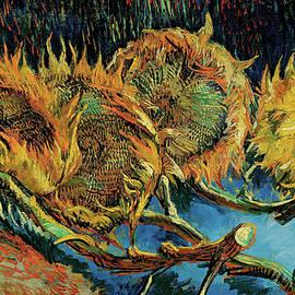 Four Cut Sunflowers - Vincent van Gogh