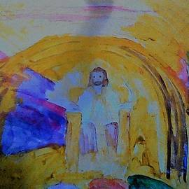 Jesus Sits On The Throne by Love Art Wonders By God