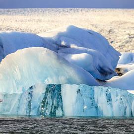 Jokulsarlon Lagoon Icebergs by Alexey Stiop