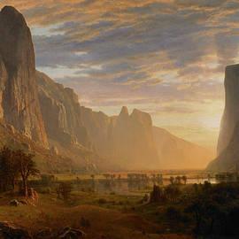 Looking Down Yosemite Valley - Albert Bierstadt