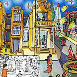 Naive Art Paintings Folk Artworks Painter Naif Artist Israeli Painters by Raphael Perez