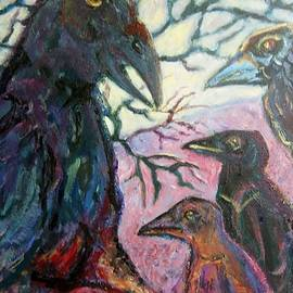 Susan Brown    Slizys art signature name - 4 Ravens