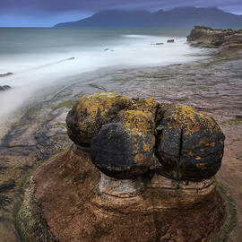 Rocky Beach in the Evening, Isle of Eigg, Scotland, United Kingd by Andrey Omelyanchuk