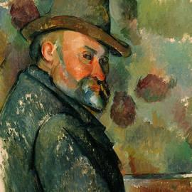 Self-Portrait with a Hat - Paul Cezanne