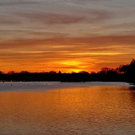 Scott Hufford - Sunset over the Danvers River, Beverly MA