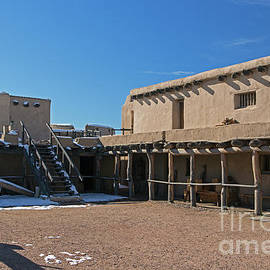 Courtyard Of Bents Old Fort by Fred Stearns