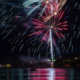 Fireworks Over Portland, Maine by Colin Chase