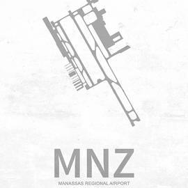 Jurq Studio - MNZ Manassas Regional Airport in Manassas USA Runway Silhouette