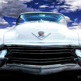 55 Cadillac Down Inna Meadow Up In Kerrville by Chas Sinklier