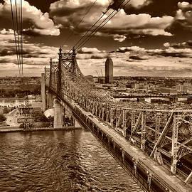 59 Street Bridge Sepia 1 by Val Black Russian Tourchin