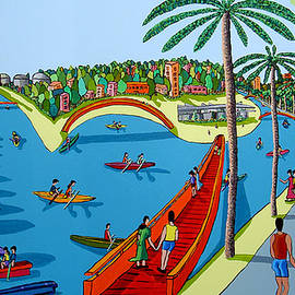 Naive Art Paintings Folk Artworks Painter Naif Artist Israeli Painters by Raphael Perez