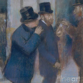 Portraits at the Stock Exchange - Edgar Degas