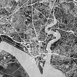 Southampton England City Map - Michael Tompsett