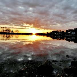 Scott Hufford - Sunset over the Danvers River from Obear Park