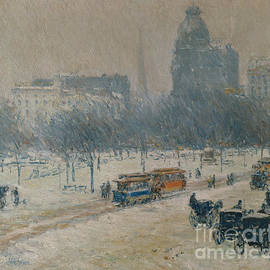Winter in Union Square - Childe Hassam