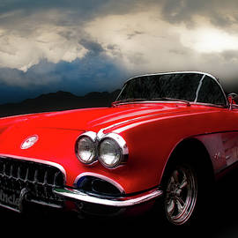60 Corvette Roadster in Red by Chas Sinklier