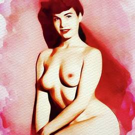 Bettie Page - Vintage Pinup - Frank Falcon