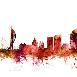 Portsmouth England Skyline - Michael Tompsett
