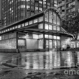 72nd Street Subway Station bw by Jerry Fornarotto