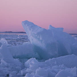 Blue Ice on Lake Michigan by Genna Card