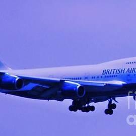 British Airways 747 Landing At Logan