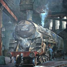 9F on Saltley shed 1958. - Mike Jeffries