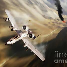 A-10 Canyon Run by Airpower Art