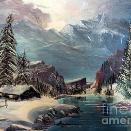 A Cabin In The Rocky Mountains by Lee Piper