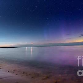 A Celestial Phenomenon On Whitefish Bay by Norris Seward