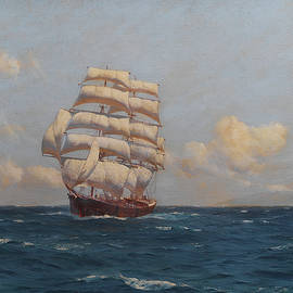 A clipper at sea - Thomas Jacques Somerscales