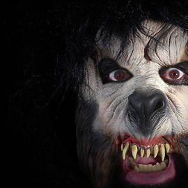A Close Up of the Face of a Werewolf by Derrick Neill