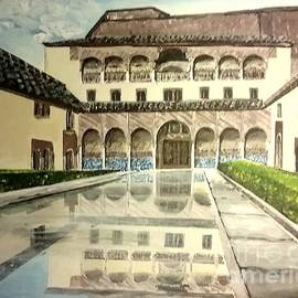 Irving Starr - A Courtyard In Alhambra Spain