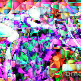 Wingsdomain Art and Photography - A Day At The Horse Race Track in Abstract Cubism 20170329