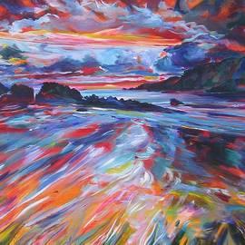 Porth Dafarch Beach by Karin McCombe Jones