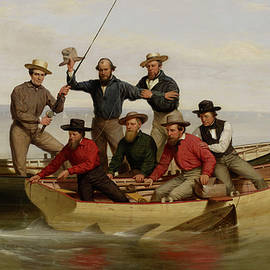 A Fishing Party Off Long Island Metal - Junius Brutus Stearns