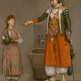 A Frankish Woman and Her Servant - Jean-Etienne Liotard