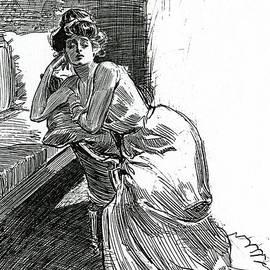 A Gibson Girl, c1902 lithograph - Charles Dana Gibson