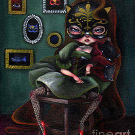 A Girl Wearing Mask of Cat by Akiko Okabe