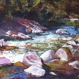 Lynda Robinson - A Glimpse of Mosman Gorge