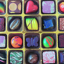 Derrick Neill - A Gold Tray of Hand Crafted Chocolates
